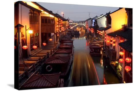 Canals of Suzhou as 'Venice of the East'-Michael Reynolds-Stretched Canvas Print
