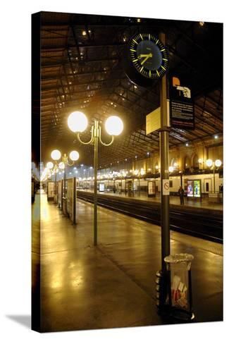 The Deserted Gare Du Nord Railway Station in Paris, France-Yoan Valat-Stretched Canvas Print