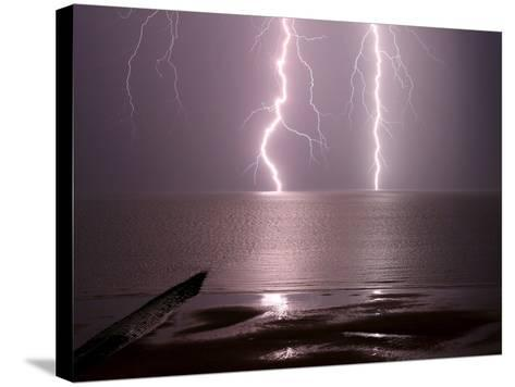 Lightning Strikes the Sea-Olivier Matthys-Stretched Canvas Print