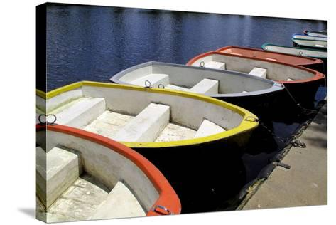 Rowing Boats for Hire-Kim Ludbrook-Stretched Canvas Print