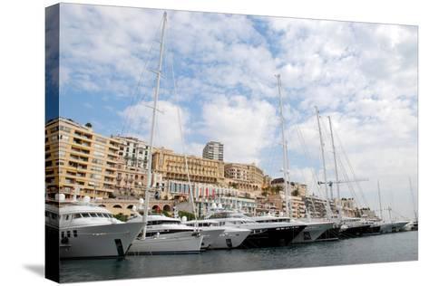 Monaco Yacht Show--Stretched Canvas Print