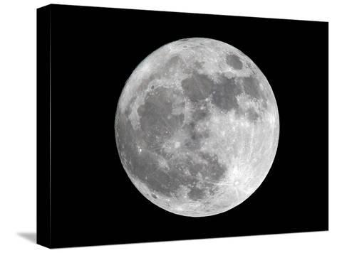View of a Full Perigee Moon over Manila-Dennis M. Sabangan-Stretched Canvas Print