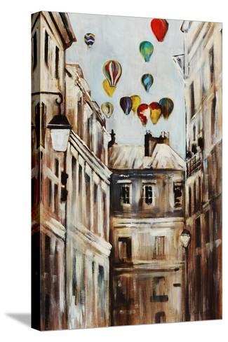 Street Affair-Sydney Edmunds-Stretched Canvas Print