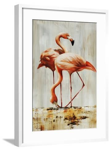 Flamingo V-Sydney Edmunds-Framed Art Print