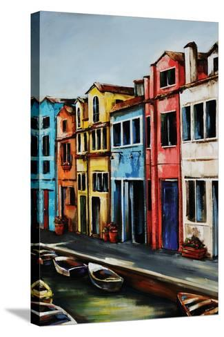 Canal Street-Sydney Edmunds-Stretched Canvas Print