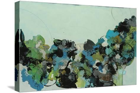 Black and Blue-Kari Taylor-Stretched Canvas Print