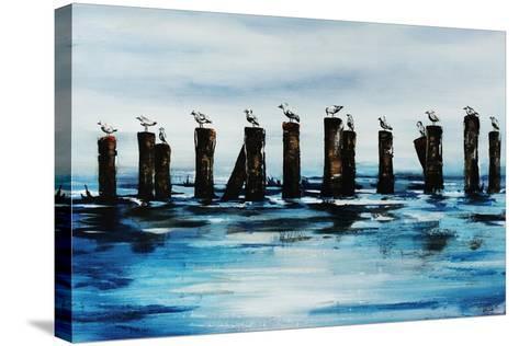 The Line Up-Sydney Edmunds-Stretched Canvas Print