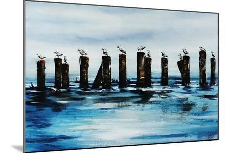 The Line Up-Sydney Edmunds-Mounted Giclee Print