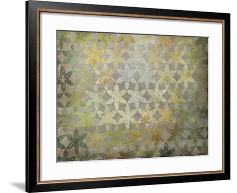 Celadon Flowers-Kari Taylor-Framed Art Print