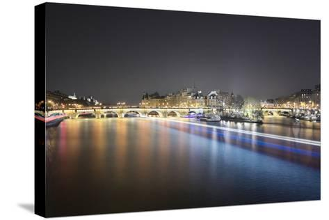Paris from Pont des Arts-Philippe Manguin-Stretched Canvas Print