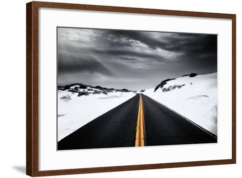 Around the yellow line-Philippe Sainte-Laudy-Framed Art Print
