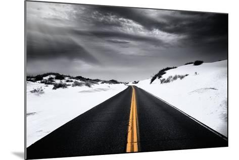 Around the yellow line-Philippe Sainte-Laudy-Mounted Photographic Print