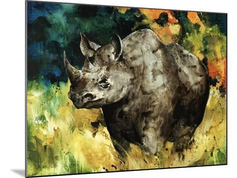 Black Rhino-Sydney Edmunds-Mounted Giclee Print