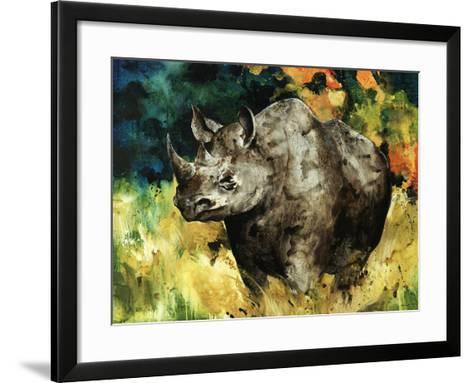 Black Rhino-Sydney Edmunds-Framed Art Print