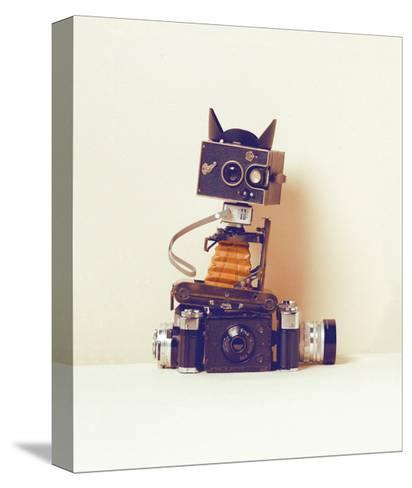 Robot Cat-Ian Winstanley-Stretched Canvas Print