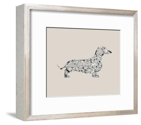 Dachshund-Louise Tate-Framed Art Print