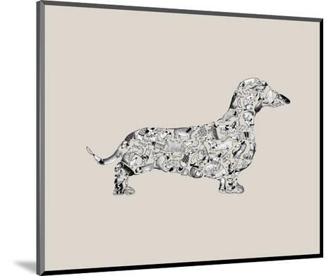 Dachshund-Louise Tate-Mounted Giclee Print