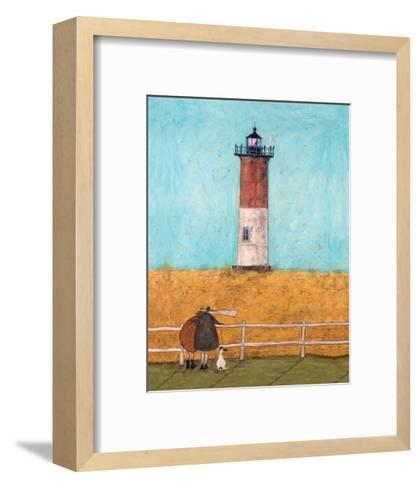 Feeling the Love at Nauset Light-Sam Toft-Framed Art Print