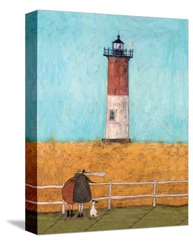 Feeling the Love at Nauset Light-Sam Toft-Stretched Canvas Print