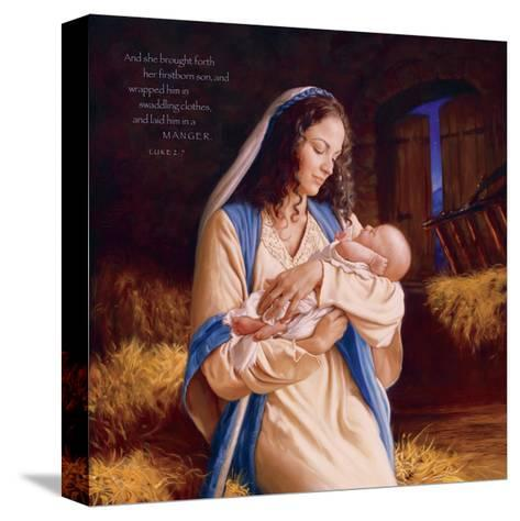 Heaven's Perfect Gift - Manger-Mark Missman-Stretched Canvas Print