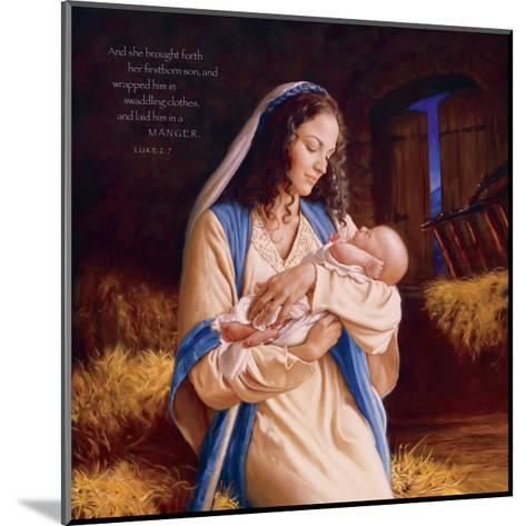 Heaven's Perfect Gift - Manger-Mark Missman-Mounted Art Print