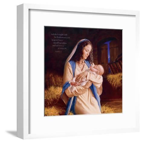 Heaven's Perfect Gift - Manger-Mark Missman-Framed Art Print