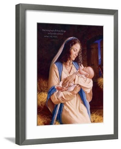 Heaven's Perfect Gift - Heart-Mark Missman-Framed Art Print