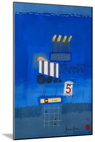 Nacht Wird Tag Collage-Bruno Haas-Mounted Premium Giclee Print