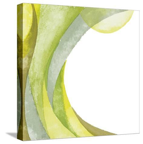 Lime Geometric I-Chris Paschke-Stretched Canvas Print