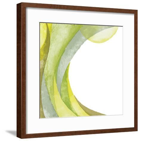 Lime Geometric I-Chris Paschke-Framed Art Print