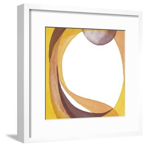 Brown Geometric I-Chris Paschke-Framed Art Print