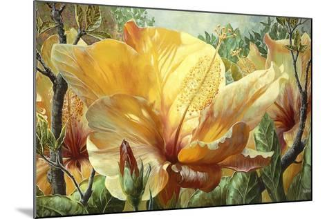 Golden Hibiscus-Elizabeth Horning-Mounted Premium Giclee Print