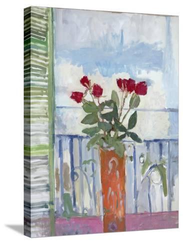 Still Life, Green Shutter-Stephen Dinsmore-Stretched Canvas Print