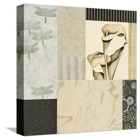Collage with Calla Lillies #3-Julieann Johnson-Stretched Canvas Print