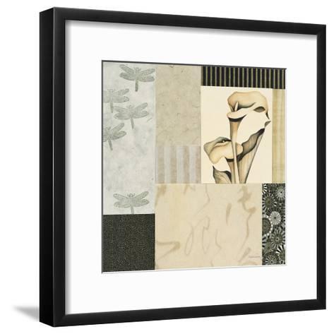 Collage with Calla Lillies #3-Julieann Johnson-Framed Art Print
