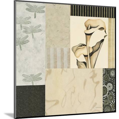 Collage with Calla Lillies #3-Julieann Johnson-Mounted Premium Giclee Print