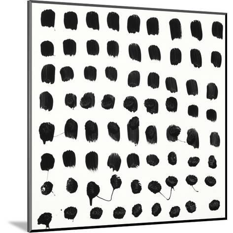 Black and White E-Franka Palek-Mounted Premium Giclee Print