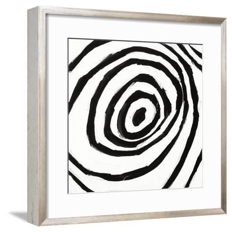 Black and White L-Franka Palek-Framed Art Print