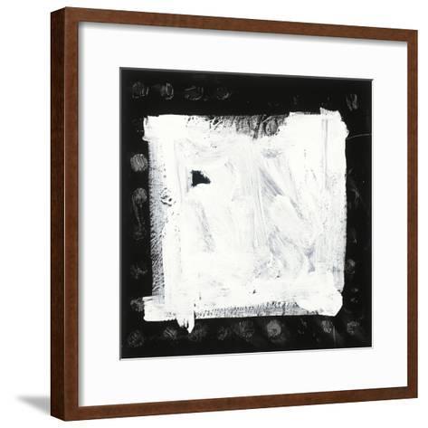 Black and White M-Franka Palek-Framed Art Print
