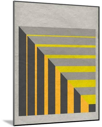 Linen Geometrics G--Mounted Premium Giclee Print