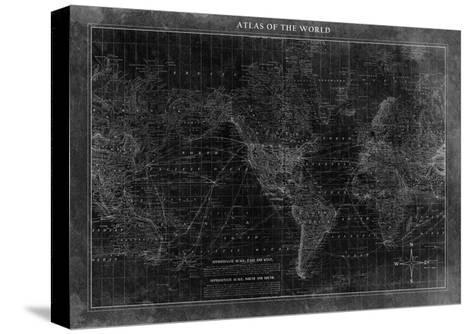 Atlas of the World--Stretched Canvas Print