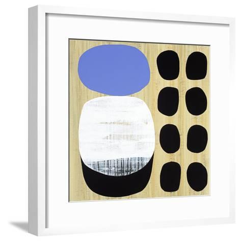 Luna Azul I-Mary Calkins-Framed Art Print