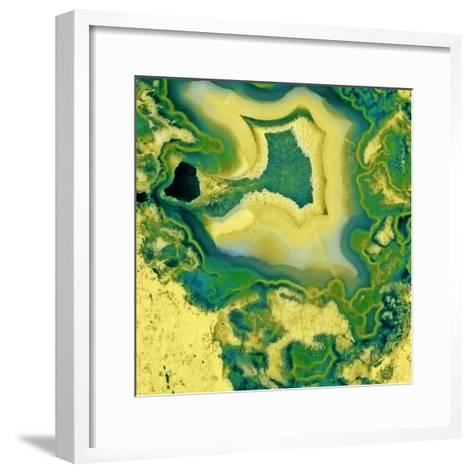 Mineral Rings Geode-GI ArtLab-Framed Art Print