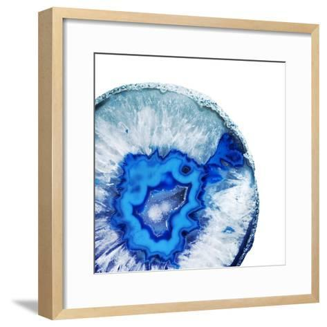 Phthalo Blue Agate A--Framed Art Print