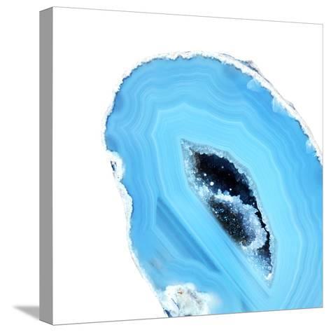 Cerulean Blue Agate A--Stretched Canvas Print