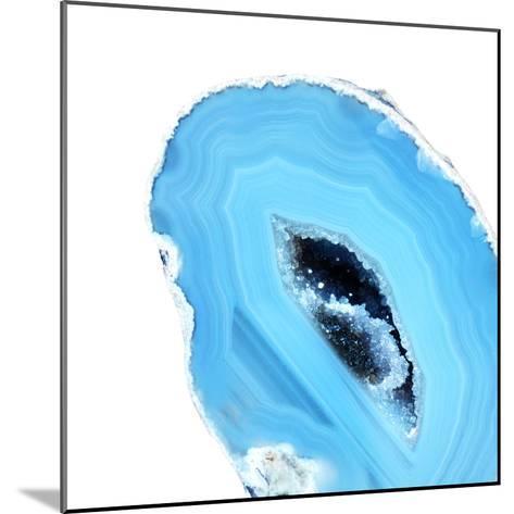 Cerulean Blue Agate A--Mounted Premium Photographic Print