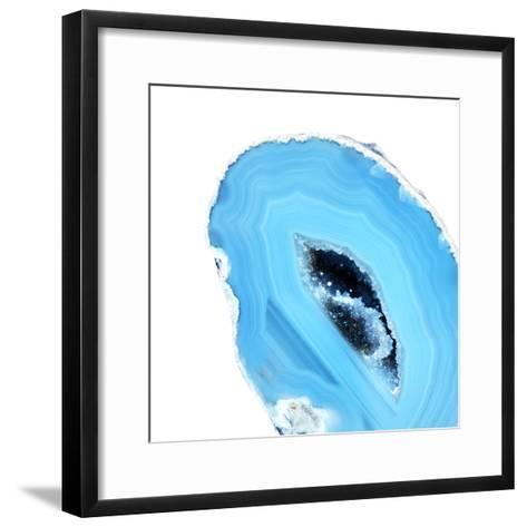Cerulean Blue Agate A--Framed Art Print