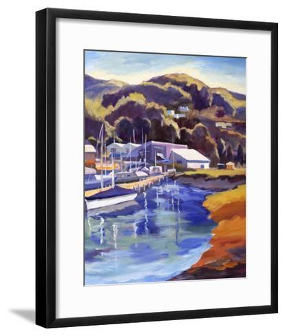 Blue Boat-Kay Carlson-Framed Art Print