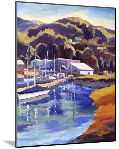 Blue Boat-Kay Carlson-Mounted Premium Giclee Print