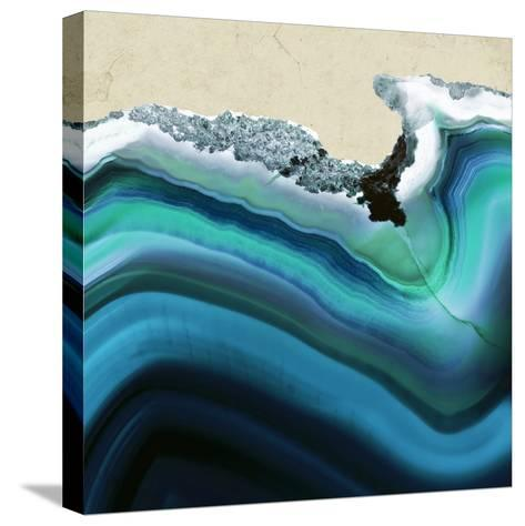 Turquoise Agate B--Stretched Canvas Print